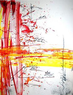 Abstract Art Watercolor - Dragon Eyes
