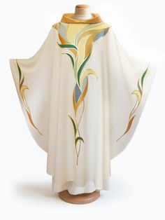 White Chasuble-Water Design