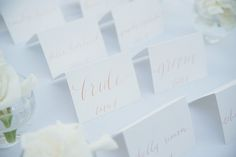 calligraphy escort cards | Emily Heizer Photography