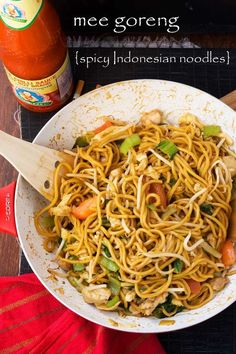 Mee goreng - spicy Indonesian noodles #dessertfoodrecipes