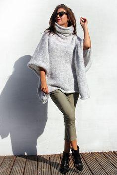 Cozy Sweater Poncho by AlexandraMilcarz on Etsy