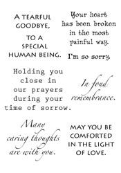 Sympathy sentiments... Helpful. I'm such a klutz with words.