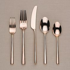 kate spade new york Malmo Rose Gold 5-piece Stainless Flatware Place Setting by Lenox #lenoxweddingcolors  @Lenox