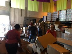 Gateway members collected supplies and  assisted with the organization of supplies at the KidSmart store.
