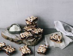 White Chocolate, Coconut and Roasted Banana S'more Bars (gluten free)