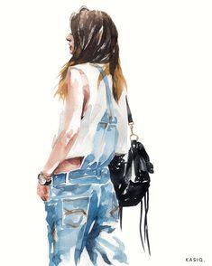 Kasiq Jungwoo #watercolor #fashion ##illustration