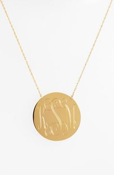 Moon and Lola Personalized Script Monogram Pendant Necklace (Online Only) available at #Nordstrom
