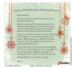 download a prayer of christmas past present and future and use it in your
