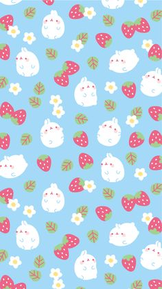 Kawaii pattern molang