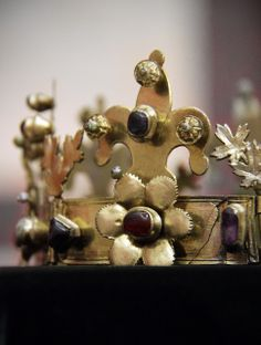 Detail -Funeral crown from the Margaret Island,Hungarian, second half of the 13c