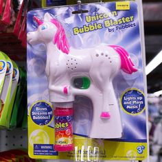 NEW NEW NEW! our #unicorn #bubble blaster is SO fun! Get excited for spring, it's just $5 of #magical fun! (bubbles included!) in-store…
