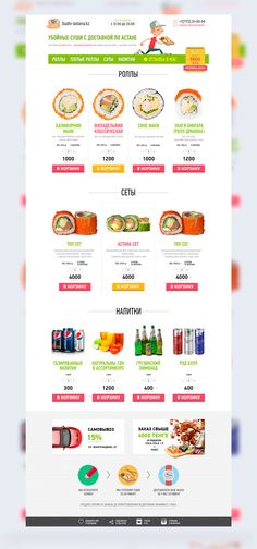 Sushi Delivery Website on Behance