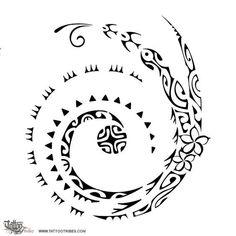 TATTOO TRIBES: Tattoo of Elements, Water, sun tattoo,water waves sun warrior tattoo - royaty-free tribal tattoos with meaning Koru Tattoo, Maori Tattoos, Maori Tattoo Frau, Filipino Tattoos, Maori Tattoo Designs, Marquesan Tattoos, 1 Tattoo, Tattoo Motive, Samoan Tattoo