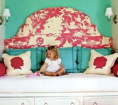 love the China Seas fabric love the built in bed and drawers more