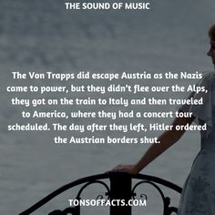 30 Fun And Fascinating Facts About The Sound Of Music Movie - Tons Of Facts Wtf Fun Facts, Random Facts, Sound Of Music Movie, Ready Player One, Movie Facts, Superhero Movies, The Godfather, Action Movies, Interesting Facts