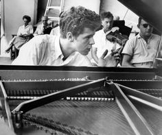 1959: Van Cliburn during rehersal for concert at the Hollywood Bowl. Cliburn was solo pianist. (Los Angeles Times file photo)