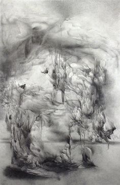 Ghosts - Fine art abstract drawing