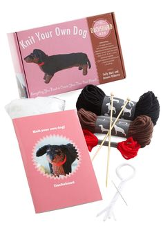Knit Your Own Dog Kit in Dachshund - Multi, Handmade & DIY, Good, Variation, Dog, Critters