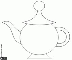 The teapot for the Mad Tea Party coloring page