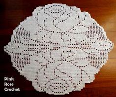 Pink Rose Crochet: Rug Roses in Crochet Filet Flower Rug Filet Crochet Charts, Crochet Flower Patterns, Crochet Motif, Crochet Designs, Crochet Doilies, Crochet Puff Flower, Crochet Round, Crochet Flowers, Crochet Decoration