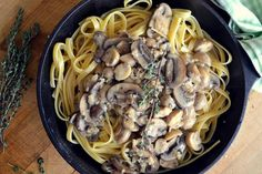 Fettuccine with Mushroom Marsala Just because Valentine's Day has come and gone doesn't mean