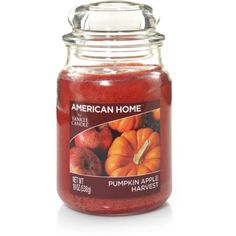 American Home by Yankee Candle Pumpkin Apple Harvest, 19 oz Large Jar
