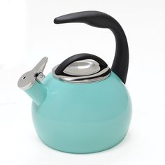Chantal 37-ANN AQ Enamel on Steel 40th Anniversary Teakettle, 2 quart, Aqua * Want to know more, click on the image.