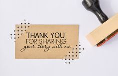 Thank You Rubber Stamp - Photographer Branding - Photography Packaging - Business Stamp - Stamps For Photographers