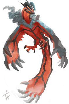 Yveltal Doodle by ALRadeck.deviantart.com on @deviantART