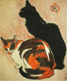 Cats by Théophile-Alexandre Steinlen.