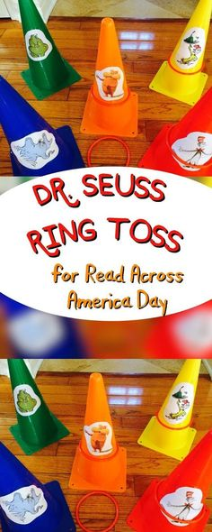 Seuss Party Games for Read Across America: Easy Ring Toss - Dr. Seuss Party Games for Read Across America: Easy Ring Toss The Jersey Momma: Dr. Seuss Party Games for Read Across America: Easy Ring Toss Dr. Seuss, Dr Seuss Lorax, Dr Seuss Game, Dr Seuss Week, Dr Seuss Birthday Party, Birthday Party Games, Birthday Ideas, 21st Party, Happy Birthday