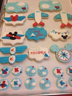 mickey plane cookies