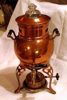 Antique Coffee Samovar Copper and Brass