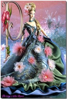 Water Lily Barbie inspired by the works of Claude Monet