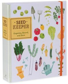 Finally, a smart way for gardeners to store their treasured seed packets. With envelopes for two different sizes of packets, space to record important details—such as date purchased, date planted, and yearly weather conditions—and beautiful color illustrations, the Seed Keeper neatly arranges seeds to keep gardeners organized through the seasons.
