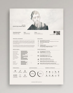 Resume / Curriculum Vitae on Behance More - Cv Resumes - CV Examples - Resume Examples - Resume Images Modern Resume Template, Creative Resume Templates, Resume Ideas, Creative Resume Design, Cv Ideas, Resume Layout, Resume Examples, Cool Resumes, Resume Cv