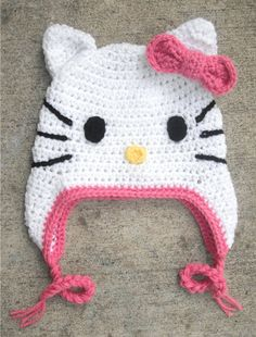 Free Hello Kitty Knit Hat Pattern : 1000+ images about Things I Will Never Crochet, but LOVE! on Pinterest Croc...