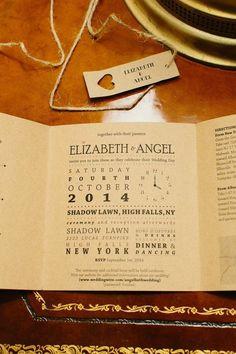 Burlap and Burgundy New York Wedding at Shadow Lawn from Fabrice Tranzer - wedding invitation idea