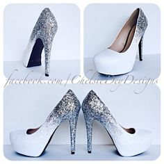 Ombre Dream Glitter High Heels - pinned by pin4etsy.com