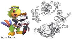 Concept Jose Carioca KH by idolnya on DeviantArt Kingdom Hearts Three, Kingdom Hearts Fanart, Oswald The Lucky Rabbit, Three Caballeros, Pixar Characters, Duck Tales, Kingdom Of Heaven, Disney Marvel, Deviantart