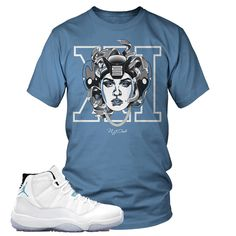 3573ddc14a2 Jordan Legend Blue Retro 11 Medusa Tee Shirt available at  www.njdriveclothing.com Jordan