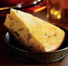 This cornbread has a moist, tender crumb. It gets a nice crisp crust in a cast-iron skillet.