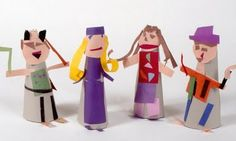 Stand up Cut Paper Self-Portraits @Barbara Weimer- I can see you making these with the girls