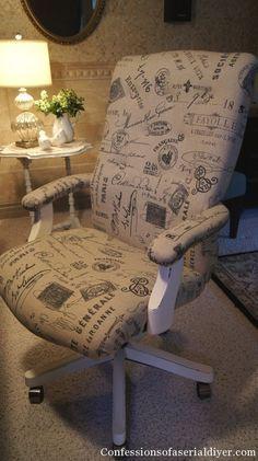"""Rivestire Shabby le sedie da P.C……. Se non ci avevate ancora pensato e l'unica nota stonata nella vostra stanza era quella sedia da P.C. troppo """"giovane"""" da shabbare, allora eccovi alcune soluzioni che vorrei proporvi per aggirare questo ostacolo. Pur conservando la loro efficace funzionalità a cui sono adibite (comode, girevoli e regolabili) sono pur ... Leggi ancora"""