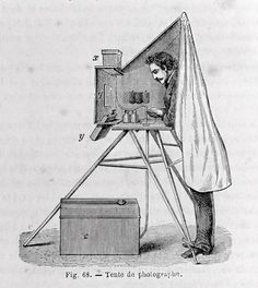 Different models of portable darkrooms. Engravings from s.XIX photographic manuals and treatises. History Of Photography, World Photography, Photography Camera, Mobile Photography, Camera Drawing, Camera Art, Pinhole Camera, Victorian Photography, Vintage Photography