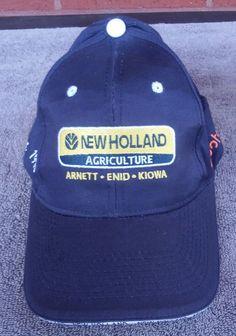 c0640e5a4448 New Holland Tractor Kubota Agriculture Hat Cap Trucker Farm Blue Strapback