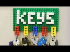 How to Make a Lego Key Holder [Video]