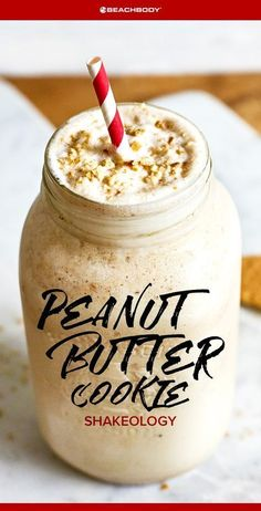 Peanut Butter Cookie Shakeology // healthy recipes // shakeology recipe // smoothies // peanut butter smoothie // drinks // beverages // snacks // desserts // 5 ingredients or less // high protein // Beachbody // BeachbodyBlog.com
