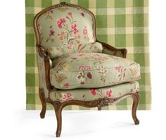 French Country chair, and love the Buffalo Check fabric.