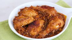 This dish from Pampanga is a sweet asado made with chicken and tomatoes.
